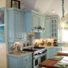 Painted/Glazed/Distressed w/Brazillian Cherry Top - Built for Nancy Pugh Interiors