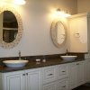 Suspended Master Vanity w/Vessel Bowls - Built for Todd Coyle Construction