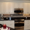 Glazed Thermofoil w/Black Granite Tops - Built for George Hoffman Construction