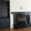 Painted and Distressed Built-in's and Mantle - Built for Mancuso Development